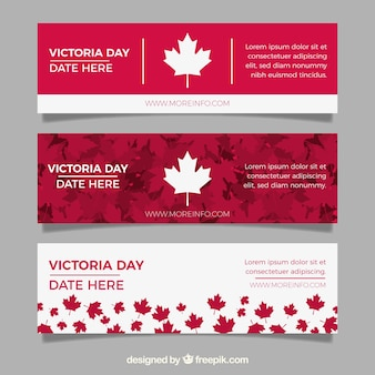 Bandeira do dia de victoria com folhas vermelhas e brancas