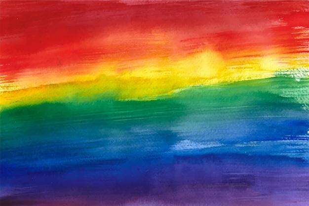 Bandeira do dia do orgulho pintada à mão em aquarela