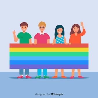 Bandeira do dia do orgulho
