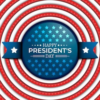 Bandeira do dia do presidente realista