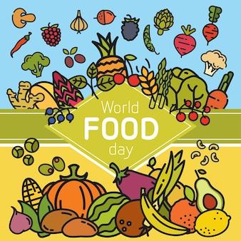 Bandeira do dia mundial da comida.