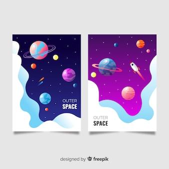 Bandeira do espaço colorido