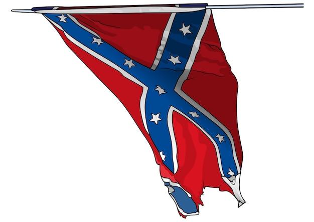 Bandeira do exército dos estados confederados nos eua