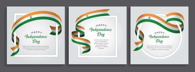 Bandeira do feliz dia da independência da índia, ilustração