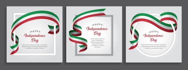 Bandeira do feliz dia da independência da itália, ilustração