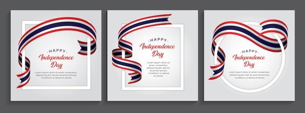 Bandeira do feliz dia da independência da tailândia, ilustração