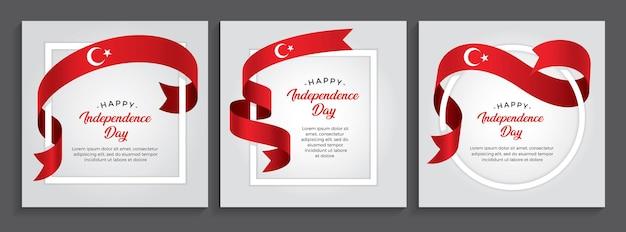 Bandeira do feliz dia da independência da turquia, ilustração