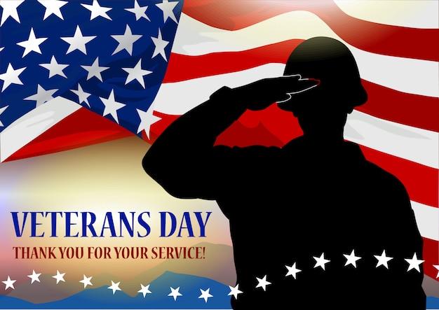 Bandeira do feriado do dia do veterano