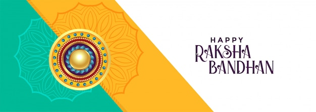 Bandeira do festival bandhan raksha elegante