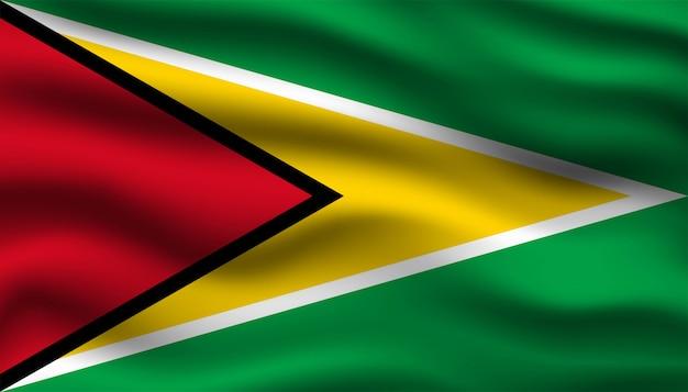 Bandeira do fundo da guiana.