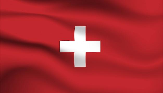 Bandeira do fundo da suíça.