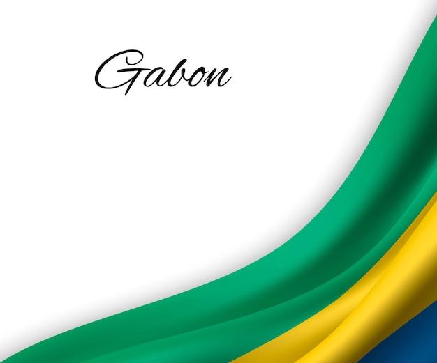 Bandeira do gabão em fundo branco.