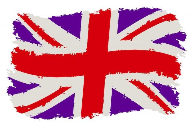 Bandeira do grã-bretanha grunge