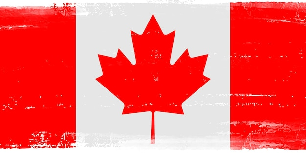 Bandeira do grunge do canadá