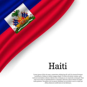 Bandeira do haiti em branco