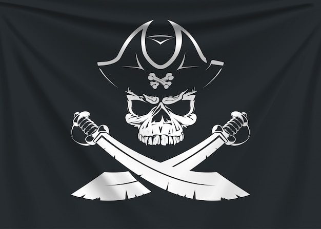 Bandeira do logotipo de pirata
