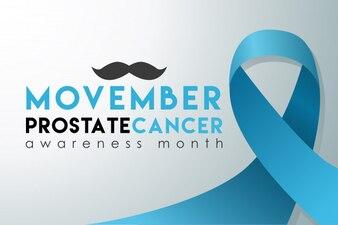 Bandeira do mês da conscientização do câncer da próstata de movember