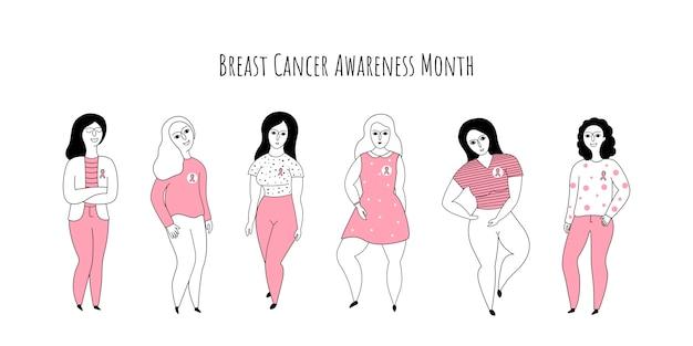 Bandeira do mês de conscientização do câncer de mama.