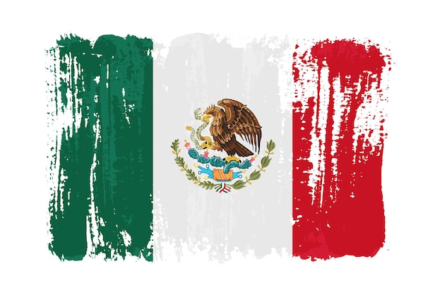 Bandeira do mexico grunge