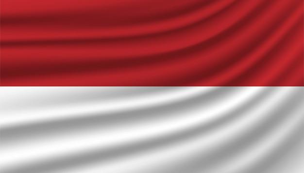 Bandeira do modelo de plano de fundo de mônaco.