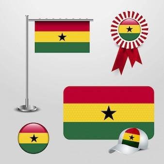 Bandeira do país de gana