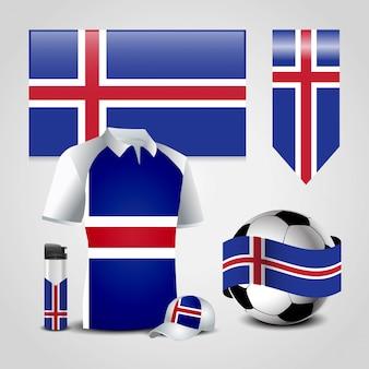 Bandeira do país de islândia
