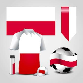 Bandeira do país de polónia