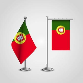 Bandeira do país de portugal no pólo