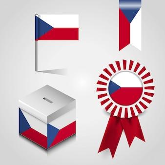 Bandeira do país de república checa