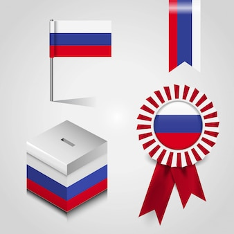Bandeira do país de rússia
