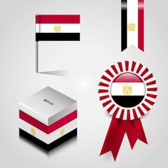 Bandeira do país do egito