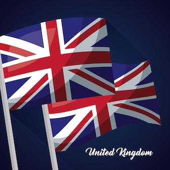 Bandeira do país do reino unido