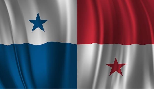 Bandeira do panamá. bandeira do panamá com fundo abstrato