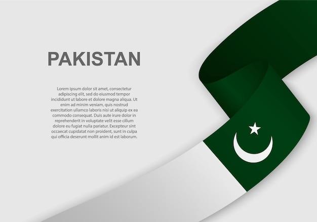 Bandeira do paquistão. Vetor Premium