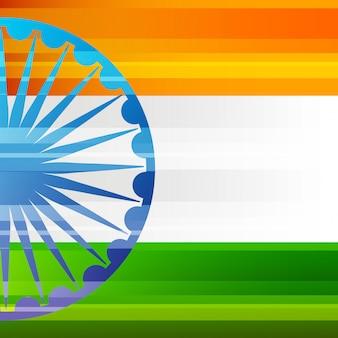 Bandeira do patriota de india e cartão do emblema da roda