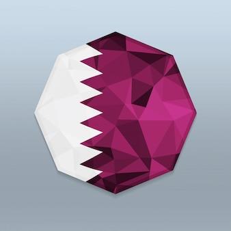Bandeira do qatar com vetor de design de octagone