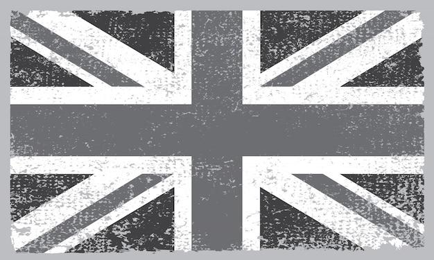 Bandeira do reino unido com textura grunge