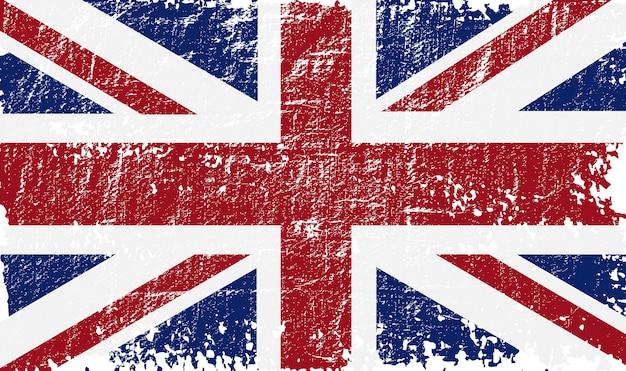 Bandeira do reino unido de grunge