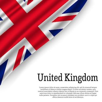 Bandeira do reino unido em branco