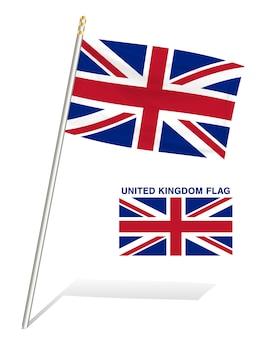 Bandeira do reino unido em um fundo branco
