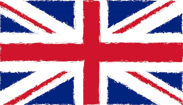 Bandeira do reino unido no estilo grunge