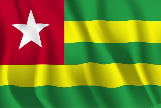 Bandeira do togo bandeira do togo abstrato