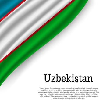 Bandeira do uzbequistão em branco