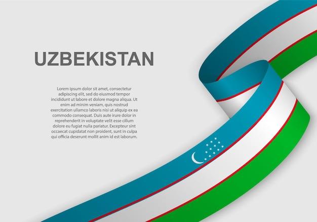 Bandeira do uzbequistão.