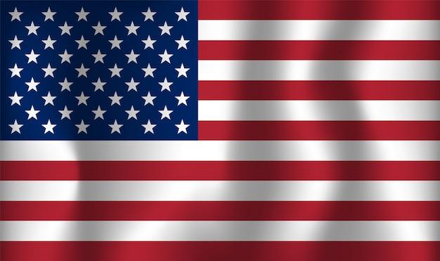 Bandeira do vetor de eua