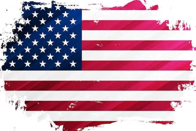 Bandeira dos estados unidos da américa fundo de traçado de pincel. bandeira nacional dos eua.