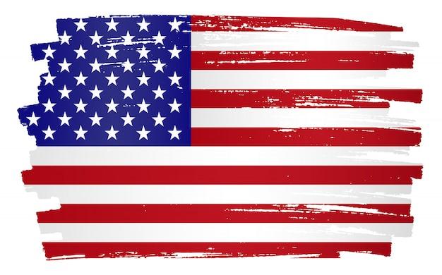 Bandeira dos estados unidos de grunge