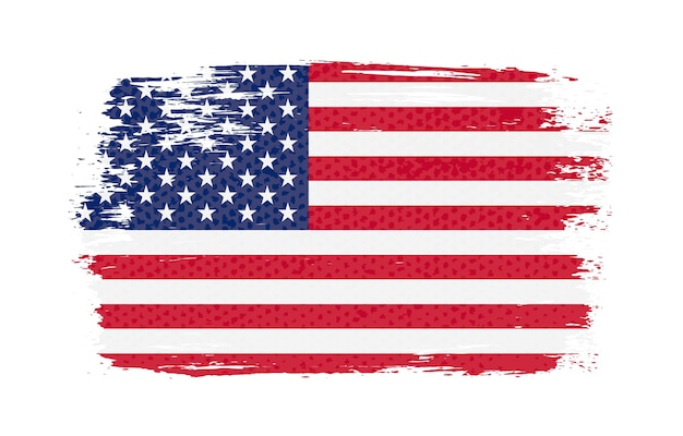 Bandeira dos estados unidos do grunge