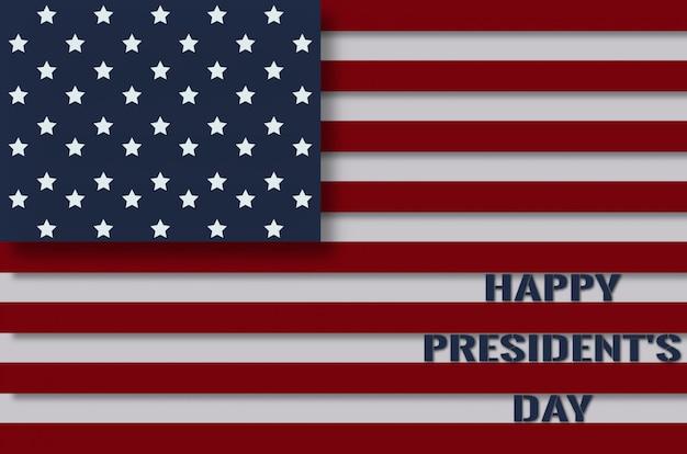 Bandeira dos estados unidos feliz dia do presidente