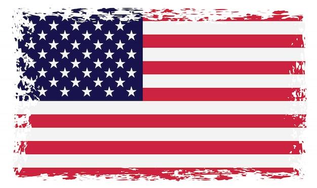 Bandeira dos estados unidos grunge